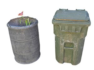 litter bin barrel mexico 3D