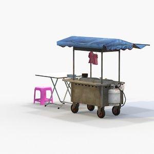 3D model street vendor