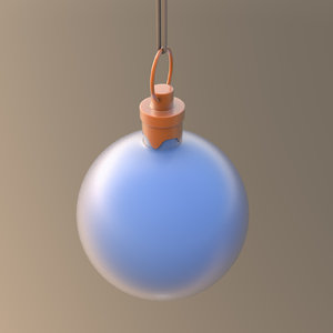 3D christmas ornament ball blue model
