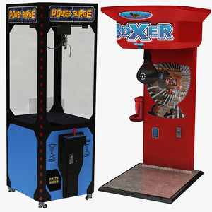 claw vending machine boxing 3D