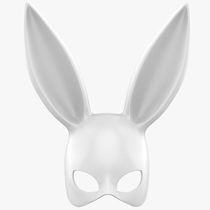 3D model bunny rabbit mask
