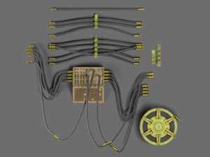 control cable 3D