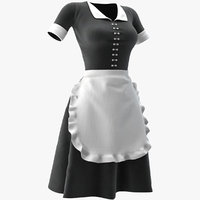 cleaning lady uniform model