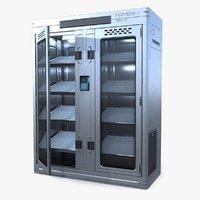 ready sci-fi locker pbr model