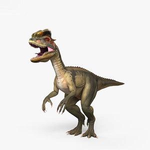 dilophosaurus dinosaurs 3D model