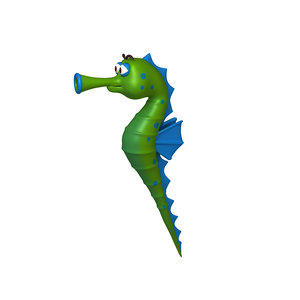 seahorse cartoon model