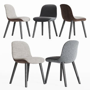 mad dining chair poliform 3D