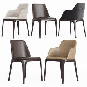 3D model poliform grace chair set
