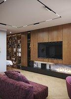 3D model loft interior kitchen