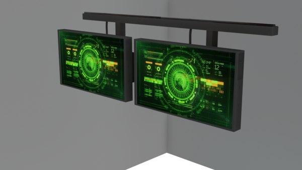 sci fi monitors 3D