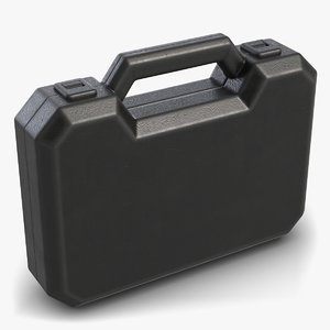 black plastic case 3D model