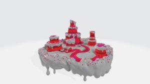candy landscape 3D model
