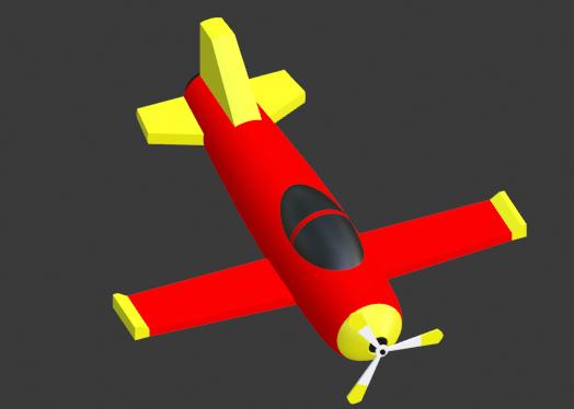 simple cartoon plane 3D