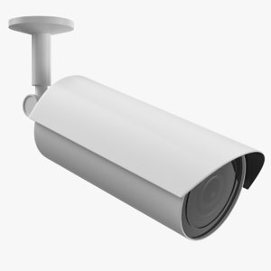 bullet security camera 3D