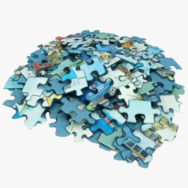 puzzle games 3D model