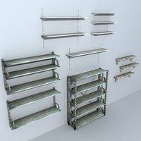 3D shelving metal unit model