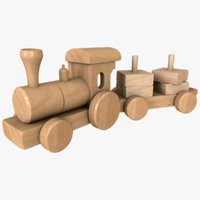 3D realistic toy train model