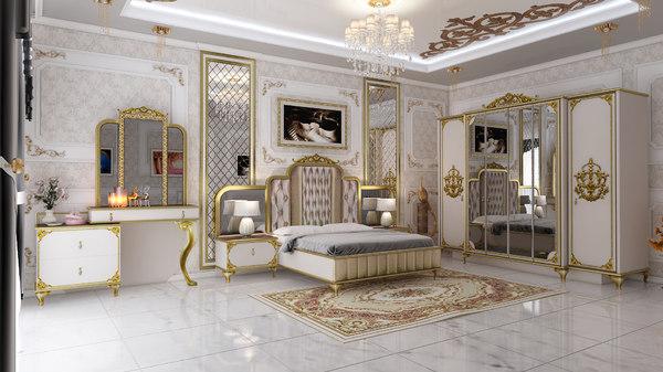 bedroom interior design 3D model