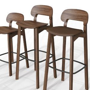 nonoto bar chair 3D model