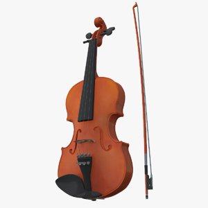 violin viola instruments 3D