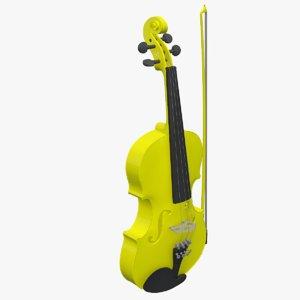 3D violin viola instruments model