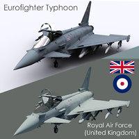 3D euro fighter typhoon