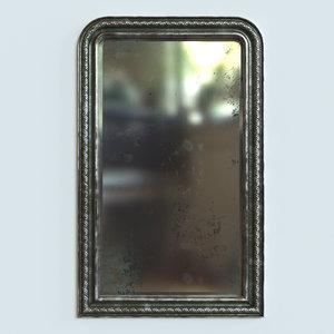 antique metal mirror 3D model
