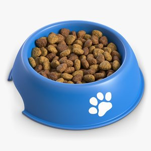 dog bowl dry food 3D model