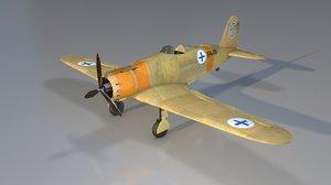 fiat g50 freccia aircraft 3D model