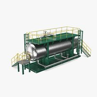 refinery desalter 3D model