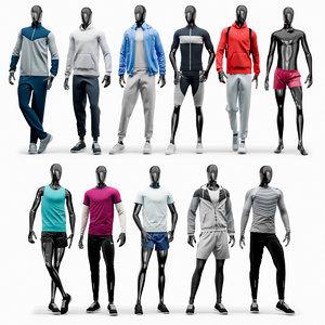 3D male sport mannequins model