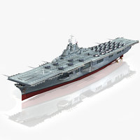 uss bunker hill cv-17 3D model