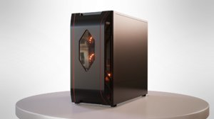 3D gaming pc case