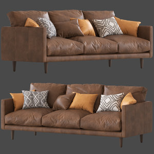 3D temple webseter carson 3 seater