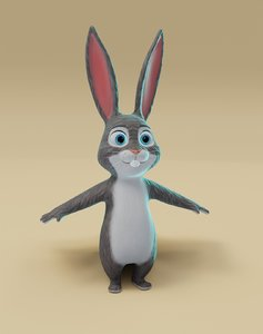 3D bunny animations -
