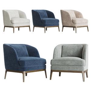 3D seychelles wood trim chair