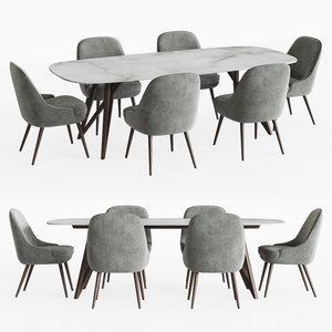 dining set 10 3D model