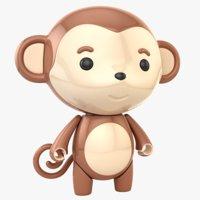 3D monkey toy model