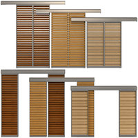 sliding windows doors shutter 3D model