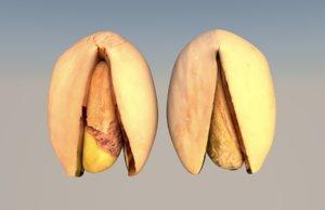 pistachio nut food 3D