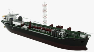 3D model offshore drilling ship deep
