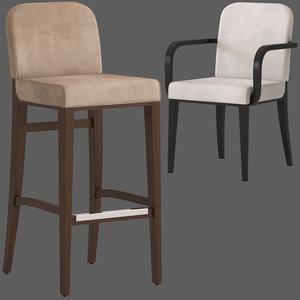 3D model montbel opera stool