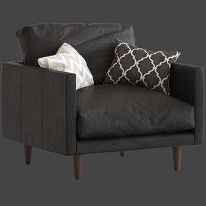 3D temple webseter carson armchair model