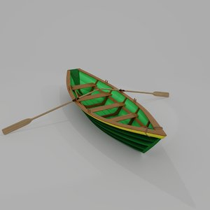3D boat banks dories