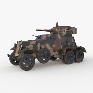 ba 6 armored camouflage 3D model