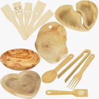 Kitchen Wooden Utensils Collection V2