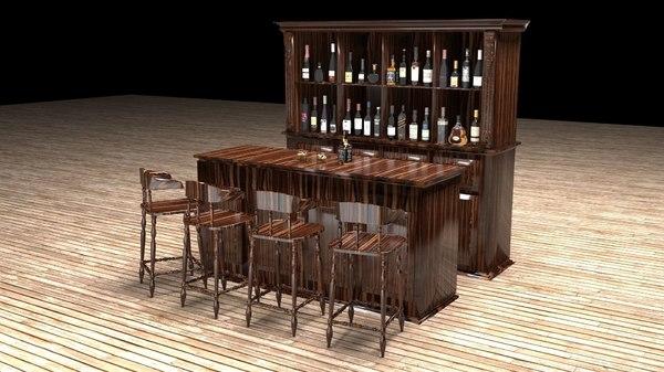 american bar 2 3D model