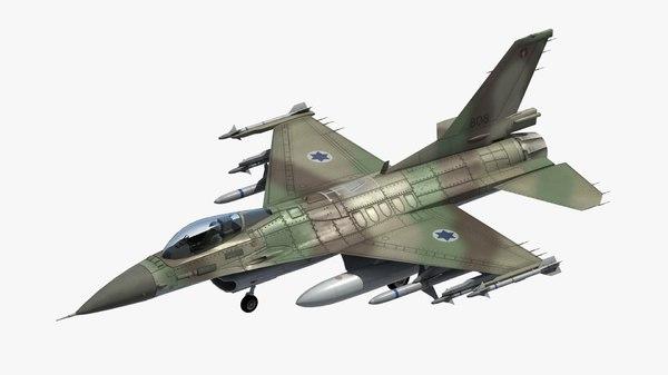 3D model f16 fighter israeli idf