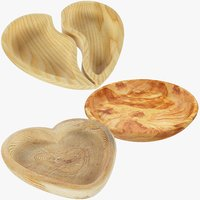 kitchen utensils wooden bowl 3D