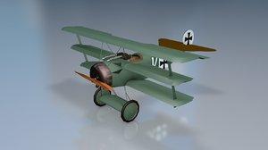 fokker dr-i aircraft 3D